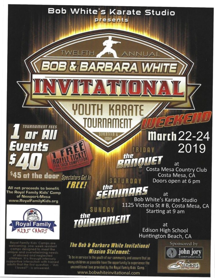 Bob White Invitational Event Flyer