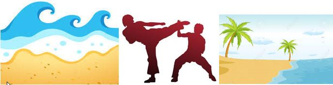 graphical beach karate image