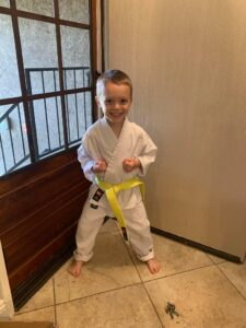 callum yellow belt